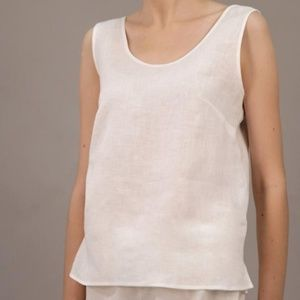 Flax 100% linen sleeveless top